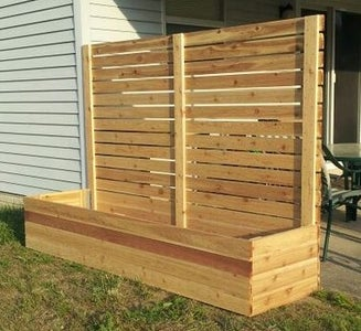 HOW TO BUILD MULTI-USE RAISED BED PLANTERS WITH PRIVACY PANELS