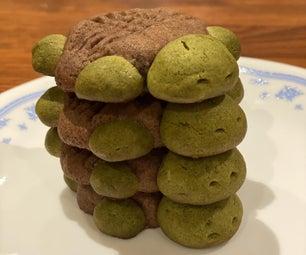 Matcha and Chocolate Turtle Cookies