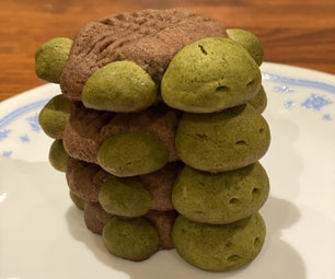 Matcha and Chocolate Turtle Cookies