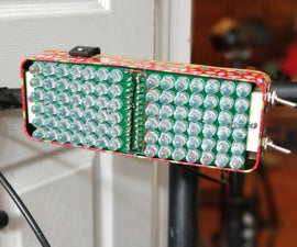 Very Bright Bike Light Using Custom Light Panel PCBs