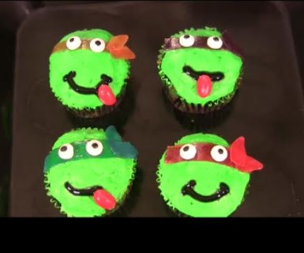 TMNT Camouflage Cupcakes