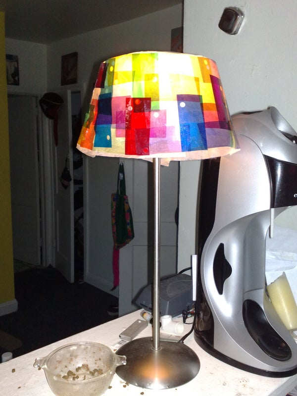 Colorful, Cheap Lampshade