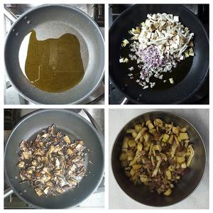 Prepare Mushrooms and Onions