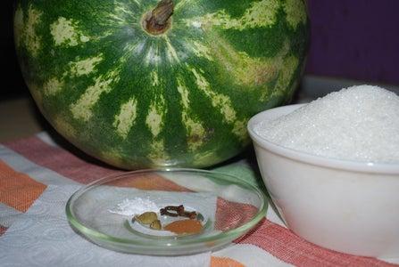 Ingredients for Melon Muraba