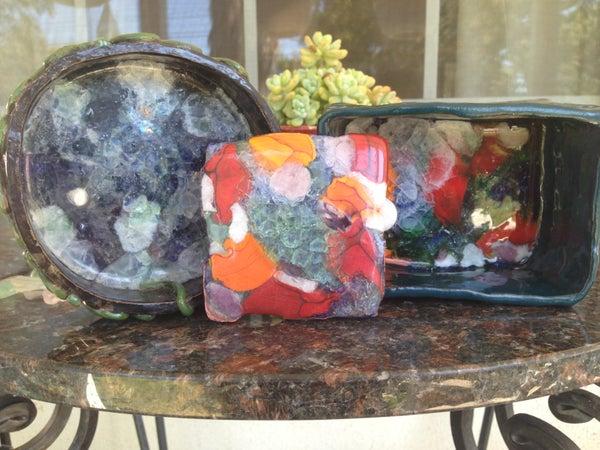 Easy Glass-Bottom Clay/Ceramic Piece