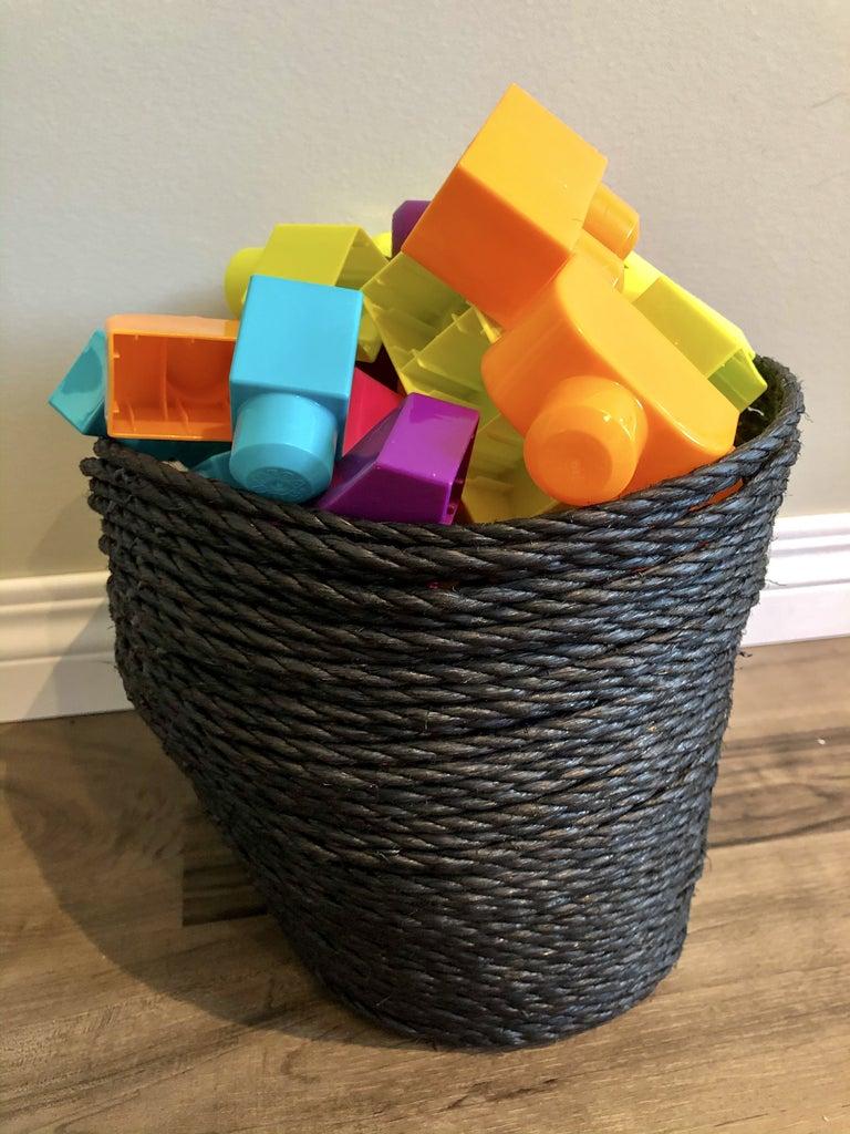 Easy Wonky Rope Basket