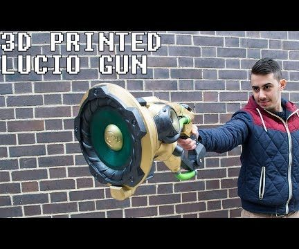Lucio Gun 3D Printed With Real Speakers From Overwatch