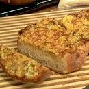 Garlic Beer Bread with Laser Cut Flour Stencil