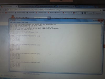 Write Gcode in Notepad