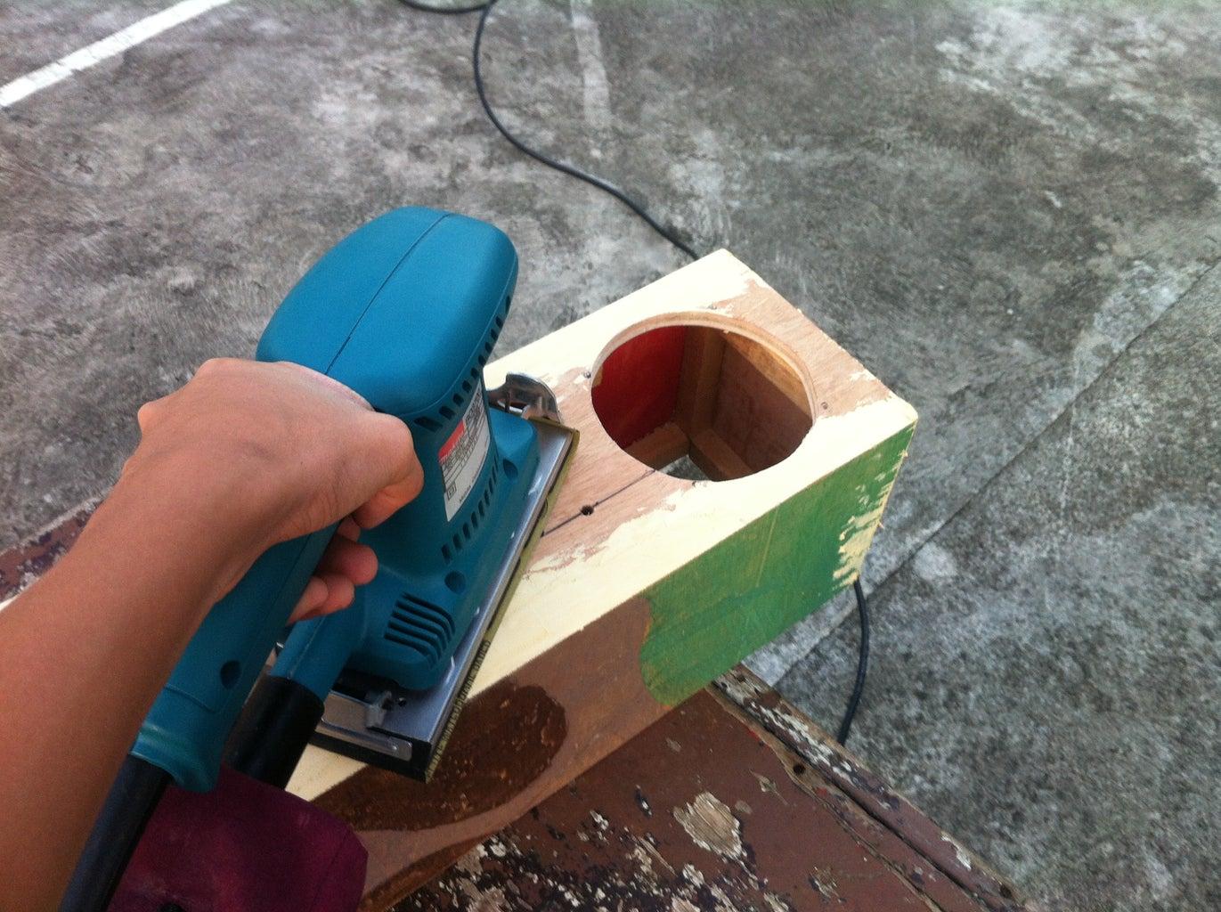 Sanding the Assembled Enclosure