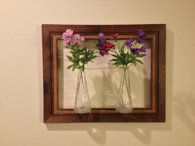 Framed Flower Vases Wall Art