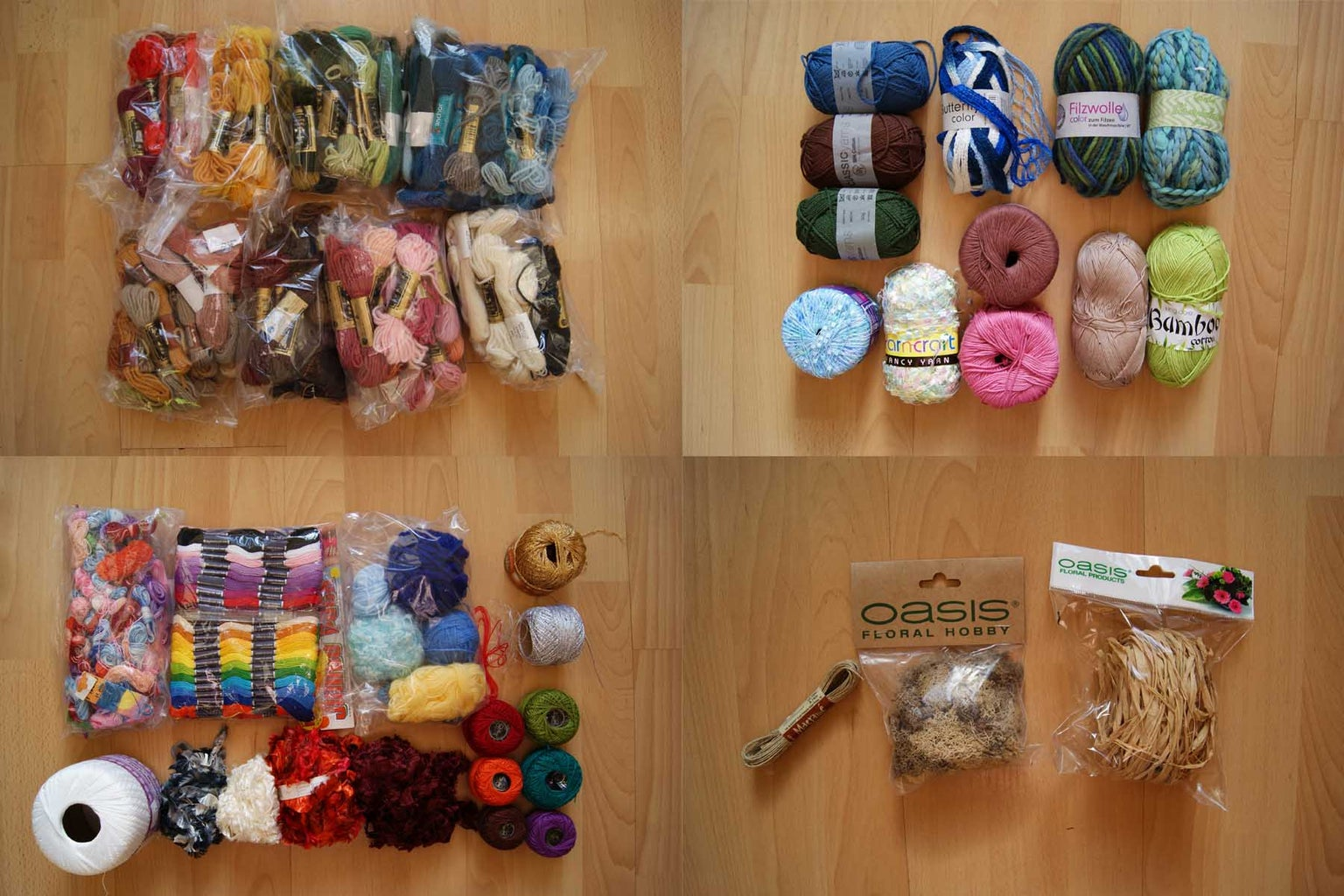 Materials Selected for Freeform Crochet: