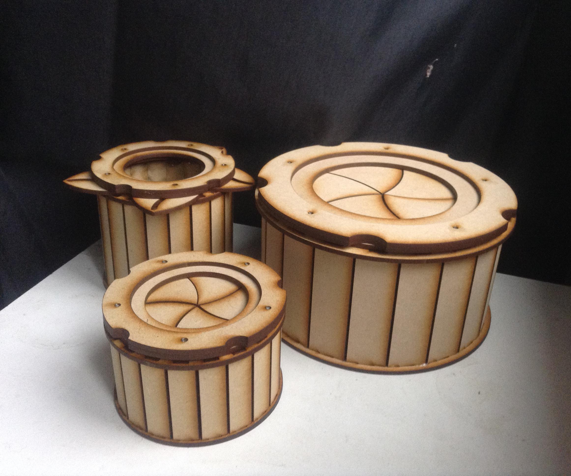 3D Printed 5-Petal Iris Box