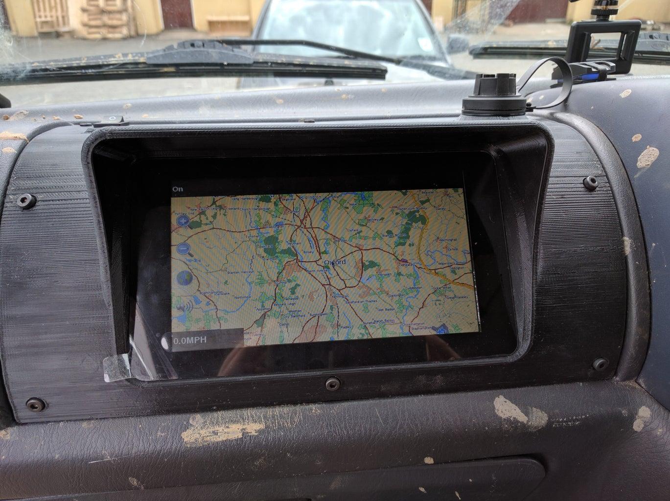 3D Printed In-Dash GPS Navigation - Raspberry Pi 3.