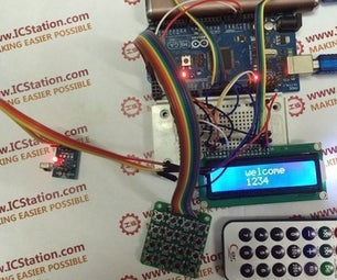 Infrared Matrix Password Input System With Arduino