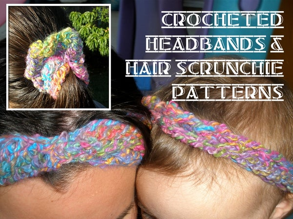 Curly Q Headband and Hair Scrunchies to Crochet