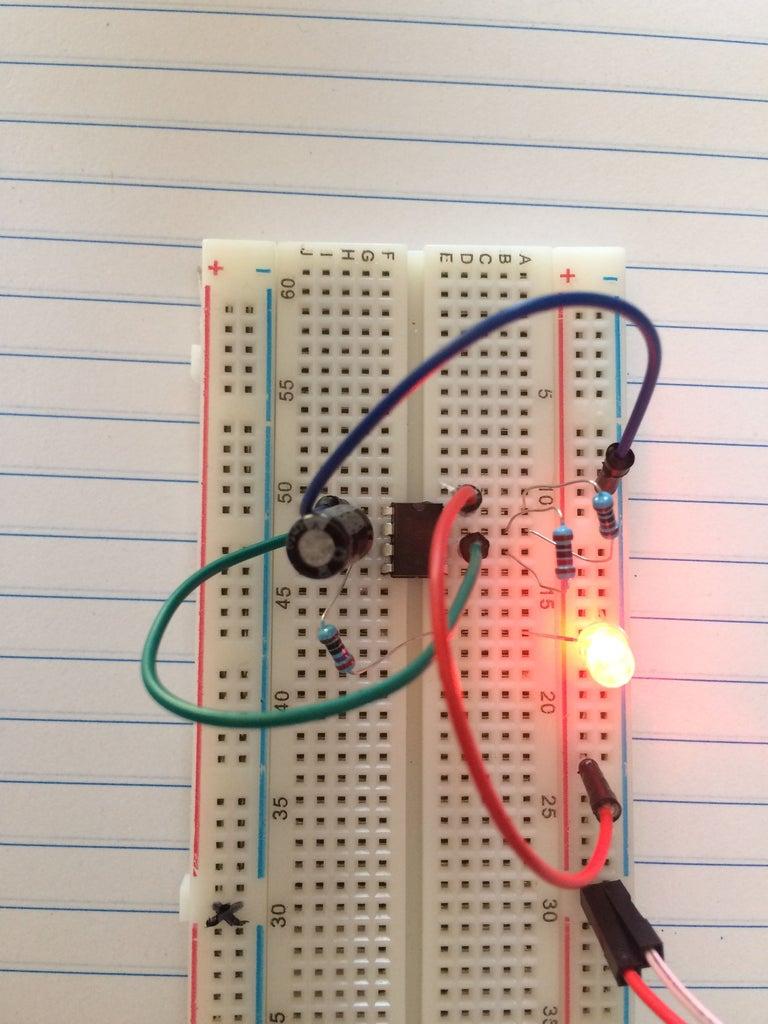 555 Timer Blink Circuit!