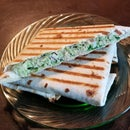 Garlic Scape Pesto / Chicken Panini
