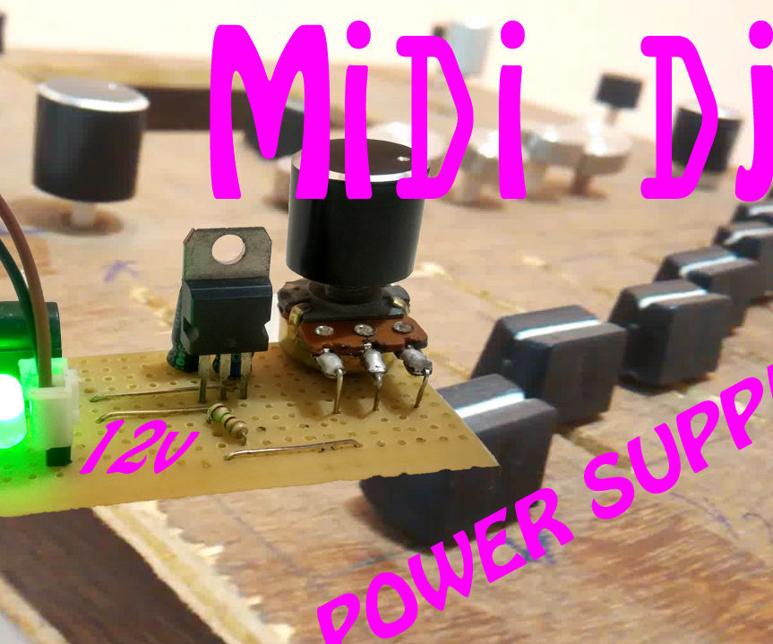Variable Power Supply Controller to Control My MIDI Device(1.8v TO 12v)