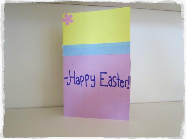 DIY Easter Egg Card