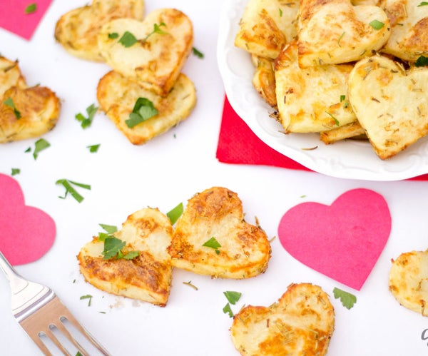 How to Make Simple Valentines Day Roast Potato Hearts