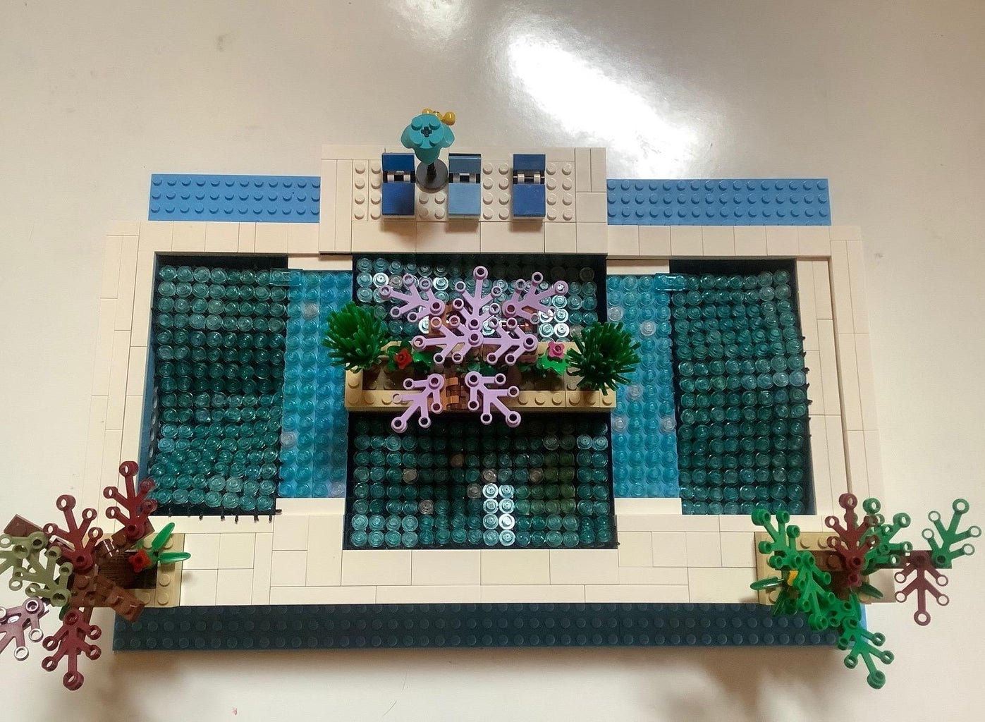 Decorating the Pool Area