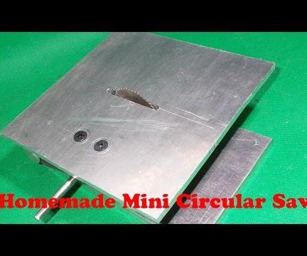 Homemade Mini Saw DIY Circular Table Saw Handmade Woodworking