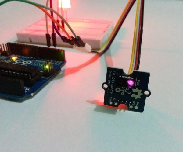 Grove IR Distance Interrupter  - Arduino