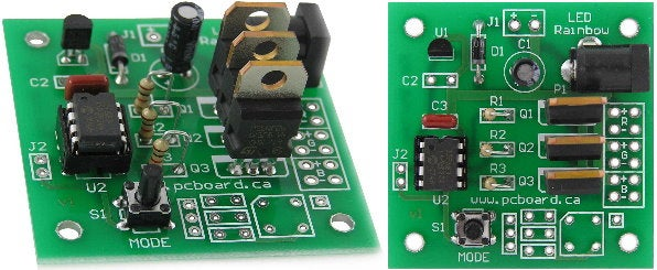 LED Rainbow - RGB LED PWM Controller Construction - Easy to Build
