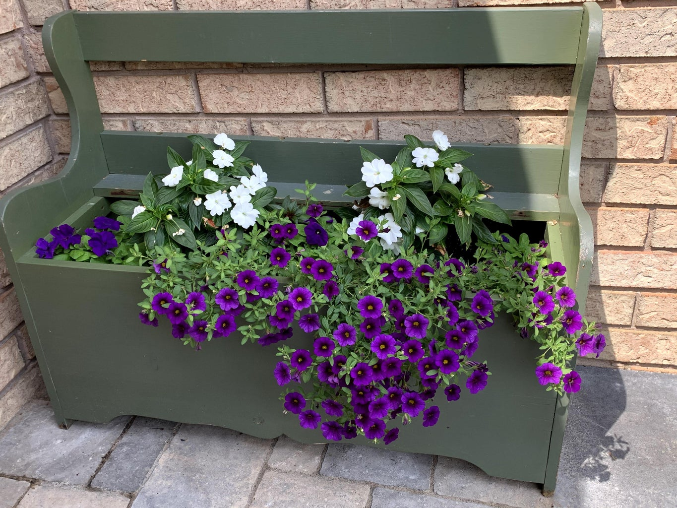 Wooden Bench Into Planter