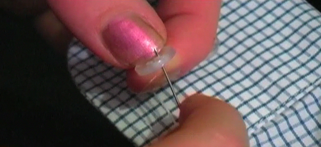 How to Sew a Button Back On