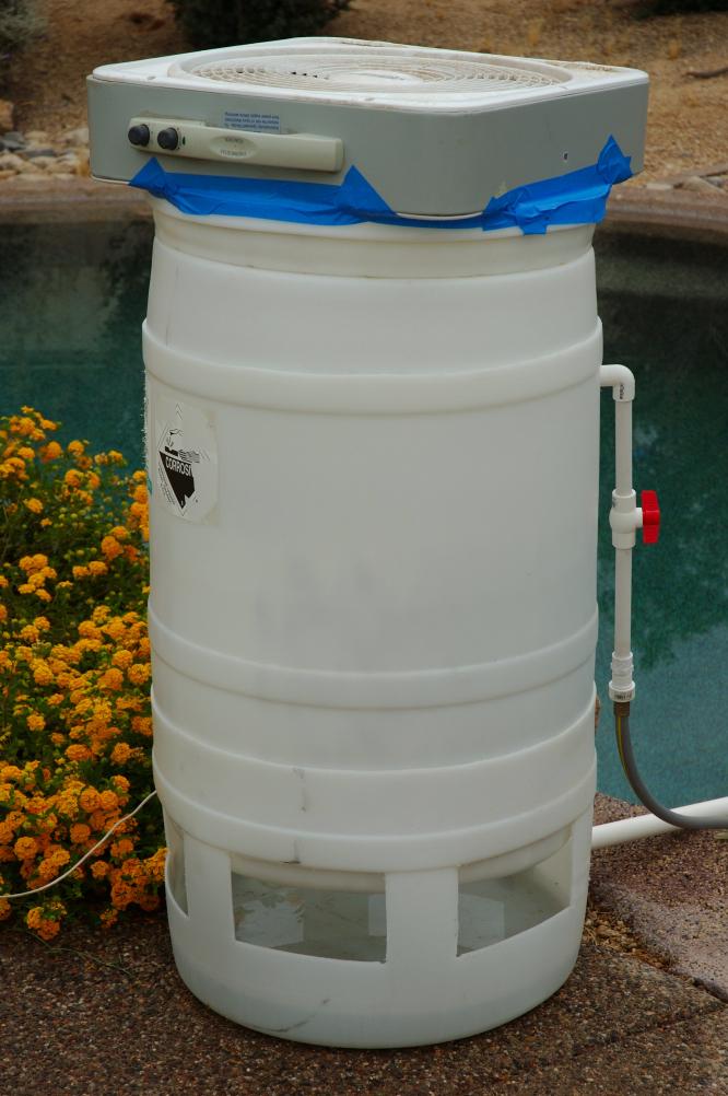 DIY swimming pool cooler.