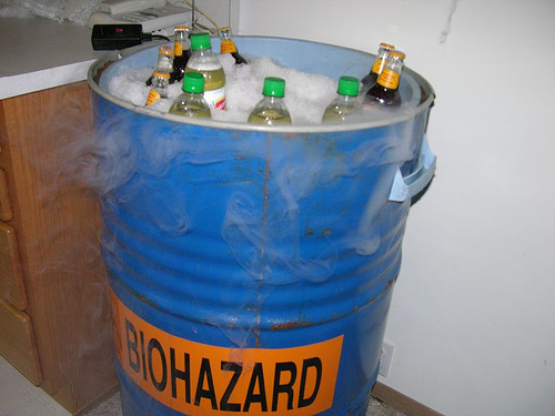 Biohazard beer barrel