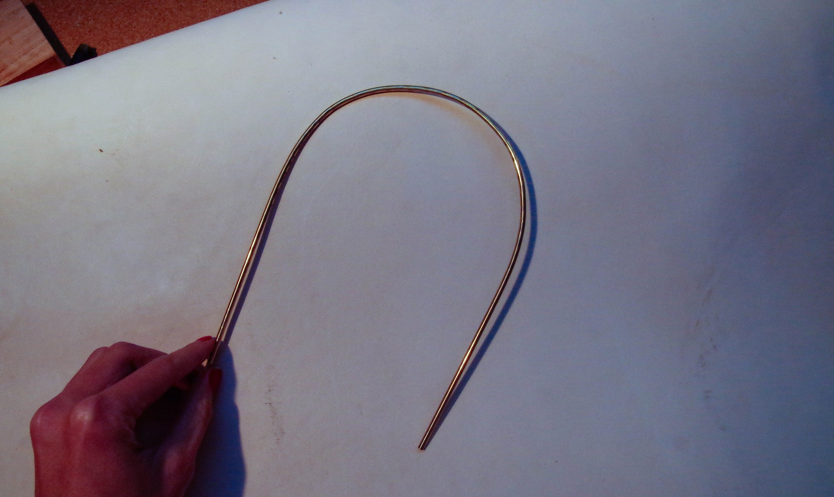 Bend and Sand Brass Rod Into Desired Shape