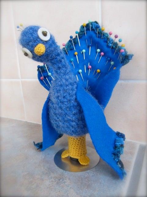 Proud Peacock Pincushion