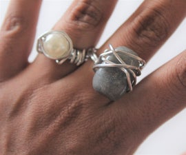 DIY Wire-Wrapped Gem Stone Rings