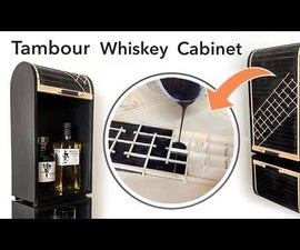 Whiskey Cabinet From a 2x4 With Epoxy Tambour Door