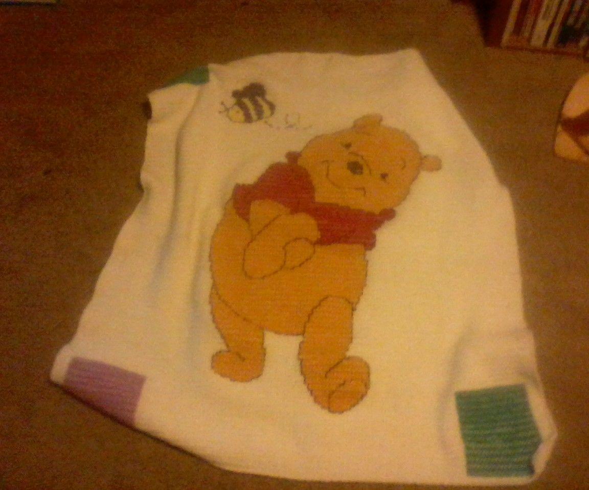 Pooh bear blanket