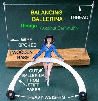 Papercraft Balance Ballerina Toy !