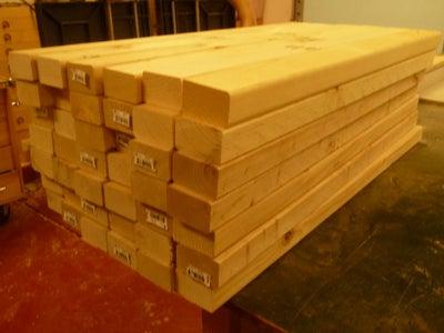Procure Lumber and Rough Cut.
