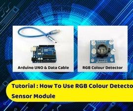 Tutorial : How to Use RGB Colour Detector Sensor by Using Arduino Uno