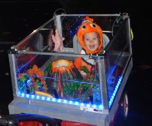 """Finding Nemo"" Mobile Aquarium With Bubble Volcano & LEDs"