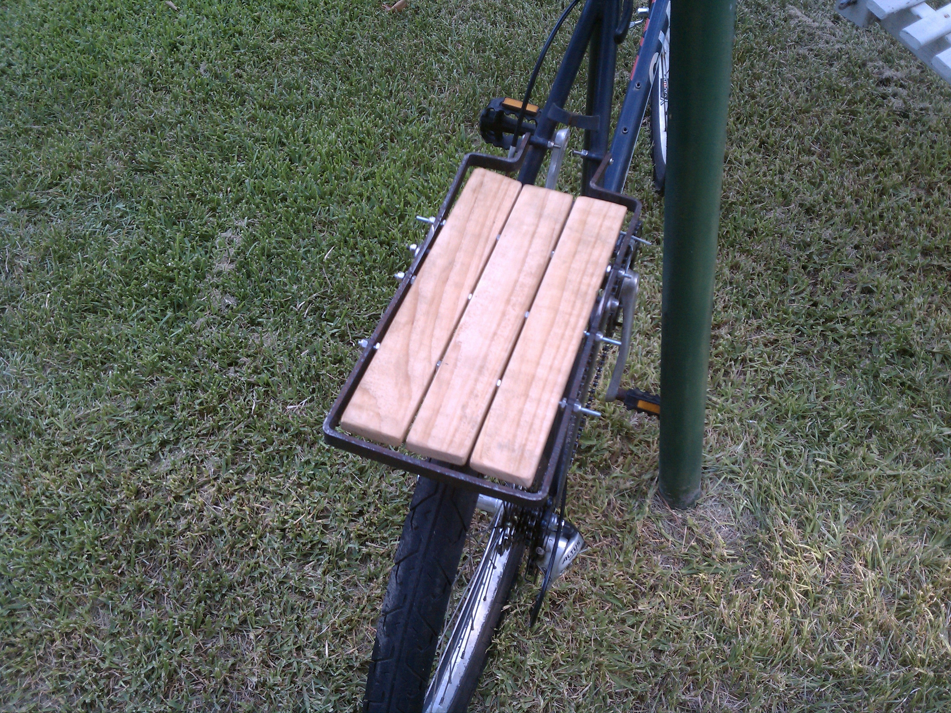 Steel And Wood Bicycle Cargo Rack 7 Steps With Pictures Instructables