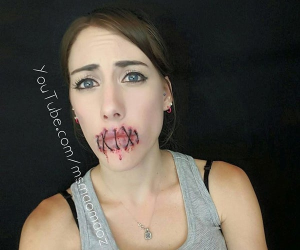 Stitched Up Lips - Sfxmakeup
