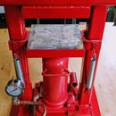 Small Benchtop 20‐Ton Hydraulic Press for  the Jeweler and Metalsmith