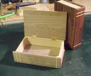 Faux Book Wood Lidded Box