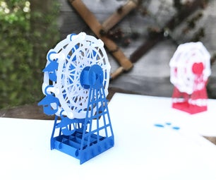 Rotatable Ferris Wheel Pop-Up Card