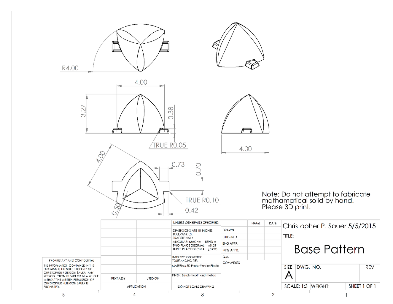Cutting Triangular Hole in Base (part 2)