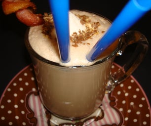 Extreme Bacon Infused Caramel Hot Chocolate