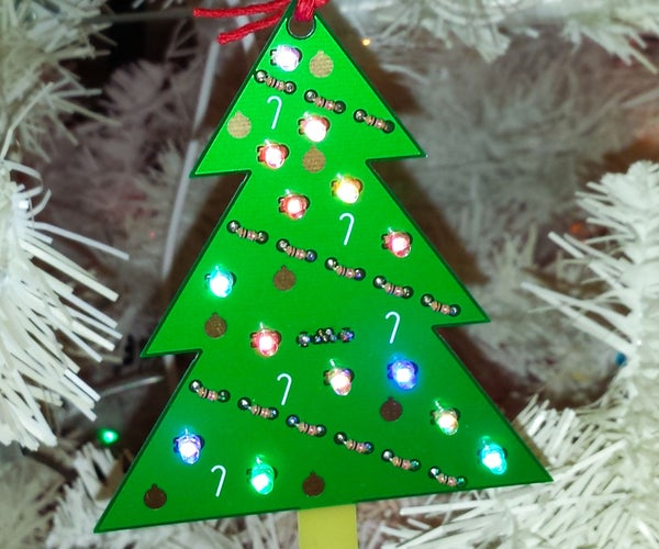 LED Circuit Board Christmas Tree Ornament
